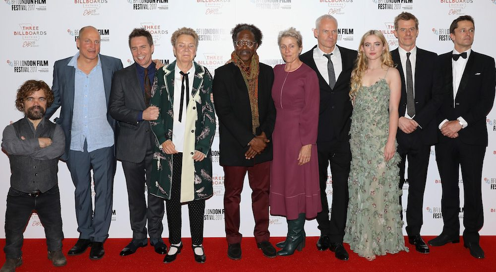 Clarke Peters & Cast in Three Billboards Outside Ebbing, Missouri